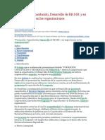 Formación, Capacitación, Desarrollo de RR.HH. y su importancia en las organizaciones