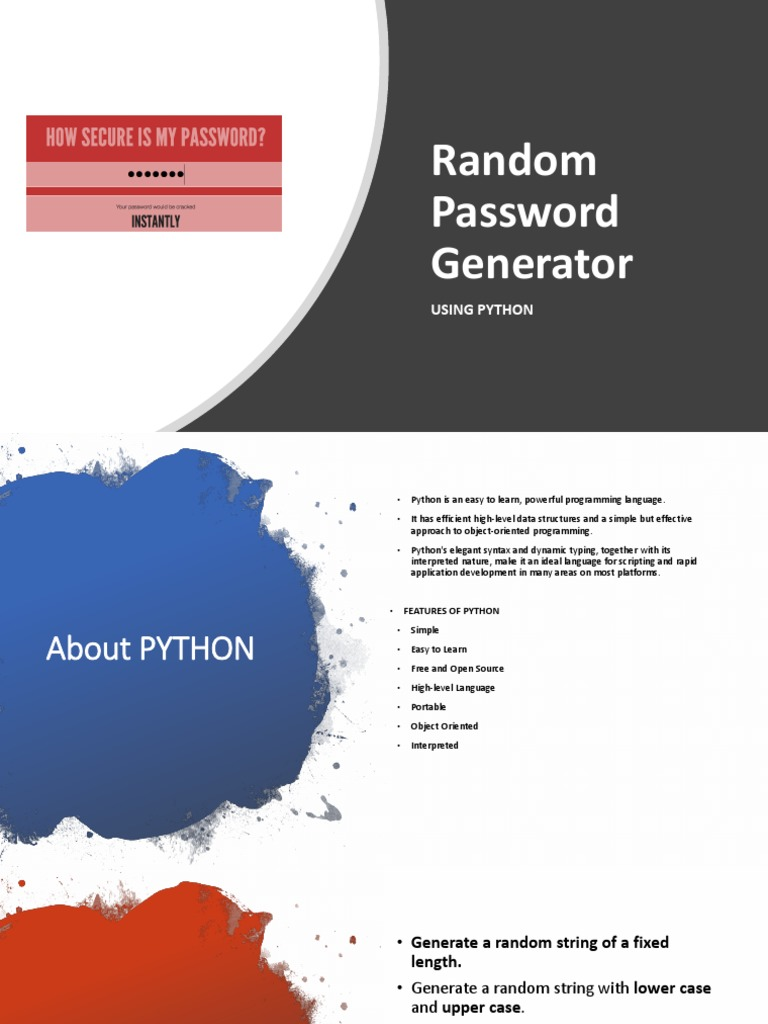 generate a random string python
