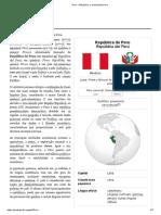 Peru – Wikipédia, A Enciclopédia Livre