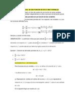 Derivada Parcial de Una Función de Dos o Mas Variables