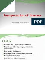 Interpetation of Statutes - Slide 02