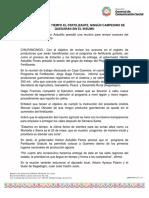 15-04-2019 SE ENTREGARÁ A TIEMPO EL FERTILIZANTE, NINGÚN CAMPESINO SE QUEDARÁN SIN EL INSUMO.