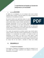4. Tensión Superficial Frente a Temperatura y Viscosidad - Alejandro Cebrián