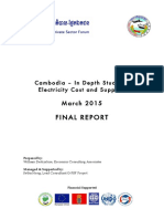 Cambodia – In Depth Study on Electricity Cost and Supplies 2015