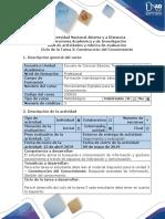 Guía de Actividades y Rúbrica de Evaluación Ciclo de La Tarea3 Reconocimiento de La Construcción Del Conocimiento