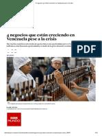 4 Negocios Que Están Creciendo en Venezuela Pese a La Crisis