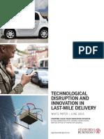 Vcii Publication Technological Disruption Innovation Last Mile Delivery