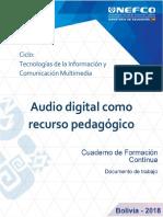 Audio Digital como recurso pedagogico
