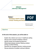 Workplace Violence, Decision Making