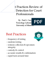 Best Practices Review of Drug Detection for Court Professionals-08.14