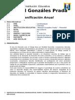 PLANIFICACION ANUAL 2° SECUNDARIA 2019