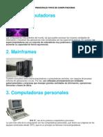 Los 10 Principales Tipos de Computadoras