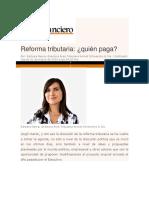 Raquel Correa en El Mercurio