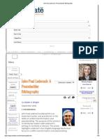 John Paul Lederach_ a Peacebuilder Bibliography