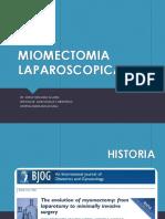 Expo Miomectomia Laparoscópica