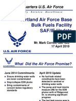 Kirtland Air Force Base fuel cleanup update April 2019