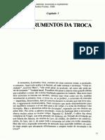 OS INSTRUMENTOS DA TROCA. Civilização Material, Economia e Capitalismo. BRAUDEL, Fernand. 1996.