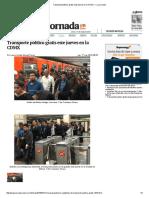 Transporte público gratis este jueves en la CDMX — La Jornada.pdf