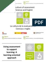 La cultura de la evaluación en Ciencias e Inglés