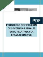 Protocolo de Ejecución de Sentencias Penales en Lo Relativo a La Reparación Civil