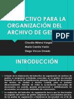 Exposicion Del Instructivo Para La Organizacion Del Archivo de Gestion