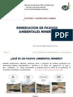 REMEDIACIÓN DE PASIVOS AMBIENTALES MINEROS