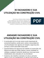ANDAIME Fachadeiro e Sua Utilização NA CONSTRUÇÃO CIVIL Charles