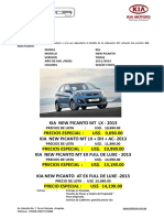 Cotizacion Kia New Picanto 2013