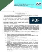 Orientacao Para Submissao (Base Na Resolução 510)