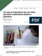 Por Qué Es Importante Que Los Niños Aprendan Matemáticas Desde La Guardería - BBC Mundo
