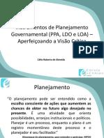 Instrumentos de Planejamento Governamental PPA LDO LOA Célio Roberto