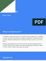 outcome 4 depression presentation