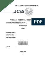 Modelo de Presentacion de Monografia 2019-I