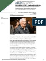Audálio Dantas (1929-2018), Eterno Andarilho - Outras Palavras