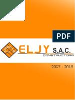 Brochure Eljy S.A.C. 2019