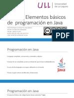 Elementos Básicos de Programación en Java