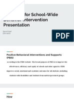 guideline for school-wide behavior intervention presentation