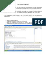 How to Edit a Script Code
