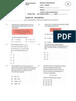 Evaluación de Matemáticas Semestral 1