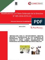 DGCP - MODIFICACIONES DE LA DIRECTIVA N° 005-2016-EF