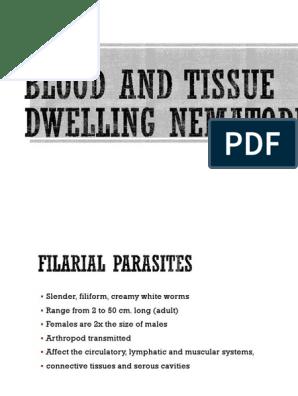 Blood and Tissue Nematodes (1) | Epidemiology | Public Health