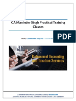 Practical training GST