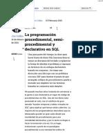 La Programación Procedimental, Semi-procedimental y Declarativo en SQL - Talk Simple