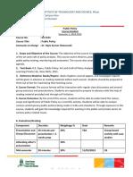GS F233 Public Policy 2018-FN