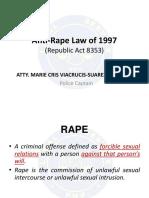 Anti-Rape Law of 1997 (RA 8353)