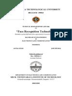 ECE Face Recognigion Report
