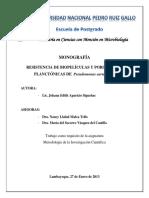 Resistencia de Biopelículas de Pseudomonas aeruginosa