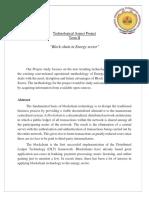 E&I Tech Aspect Project Proposal