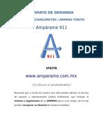 Formato Amparo Contra Alcoholímetro Torito Cdmx 2017 2018