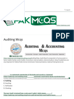 Auditing Mcqs for Senior Auditor, Junior Auditor - Accounts Fpsc,Psc,Nts